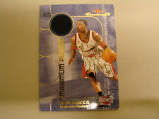 2001-02 Fleer Maximum Steve Francis Jersey Card (B10) Houston Rockets