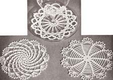 Vintage Crochet PATTERN to make Mini Small Doily Snowflake Coasters SmallDoilies