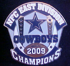 DALLAS COWBOYS 2009 NFC EAST DIVISION CHAMPIONS WILLABEE & WARD COMM SERIES PIN