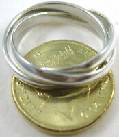 """925 Sterling Silver """"RUSSIAN 3 in 1"""" plain wedding band Ring size 6-15- UNISEX"""