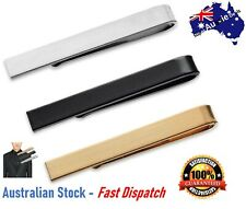 Luxury Mens Gold Stainless Slim Tie Pin Clip Clasp Bar office father dad 4.3cm