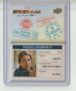 Spider-Man Far From Home Travel Passports Trading Card #PP-8 Cobie Smulders