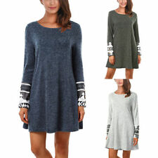 Cotton Blend Long Sleeve Tunic Solid Tops for Women