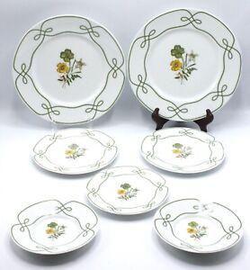 Lot of 7 Raynaud Ceralene EDELWEISS Dinner, Salad & Bread Plates