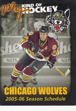2005-06 Chicago Wolves Hockey Pocket Schedule