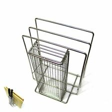 Stainless Steel Kitchen Countertop Chopping Board and Knife Blocks Rack Holder