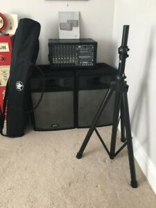 Peavey XR 684F Powered Mixer - Peavey PRO15 Speakers - Stands