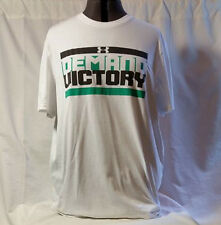 """Under Armour Loose Heat Gear """"Demand Victory"""" T shirt in white"""