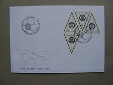 SWITZERLAND, cover FDC 2004, 2 pairs triangle stamp WC soccer football