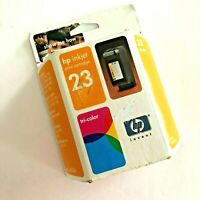 Genuine HP 23 Tri-Color Ink Cartridge C1823D New Sealed Box Expired