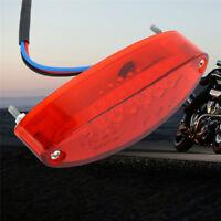 1X Universal 12V Motorrad ATV Dirt Bike LED  Stop  Bremse laufen Rücklicht klar~