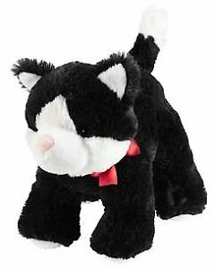 NWT Carters Black White Red Bow Plush Kitty Cat Kitten Stuffed Baby Toy 66974