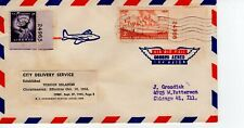 CITY DELIVERY SERVICE, VIRGIN ISLANDS  1955 FDC8256