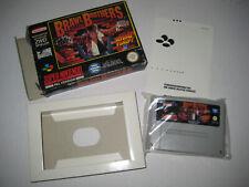Super Nintendo SNES Brawl Brothers Rival Turf 2 mit OVP PAL Version Retro selten