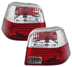 Rückleuchten Set in Klarglas Rot Weiß für VW GOLF 4 IV Limo Heckleuchten