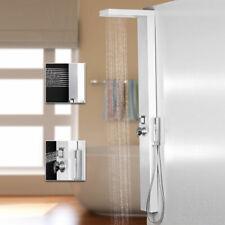Blanc Aluminium Colonne de douche Massage jets Sanlingo