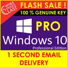 Windows 10 Professional Pro - GENUINE KEY - 32/64 Bit