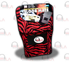 New 4pc Set Red/Black Zebra Tiger Car Truck Carpet Floor Mats