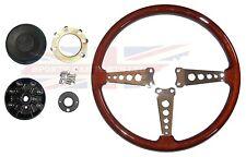 New Wood Steering Wheel and Adaptor for MGB 1970-1976 OE Type Wheel in Wood