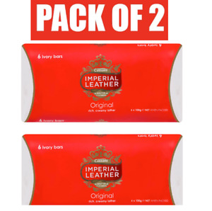 Cussons Imperial Leather Original 6 Bars PACK OF 2 (12 total) Shower Soap