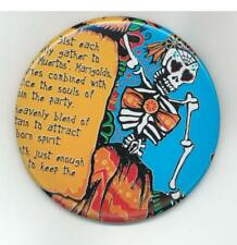 "Day of the Dead Dia de los Muertos Skeleton Monster - PINBACK BUTTON 2 1/4"" NEW"