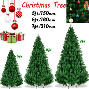 5ft 6ft 7ft Deluxe Christmas Tree Green Colorado Luxury Artificial Pine XmasTree