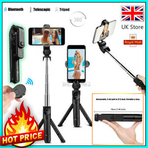 Telescopic Selfie Stick Bluetooth Tripod Monopod Phone Holder for Samsung iPhone