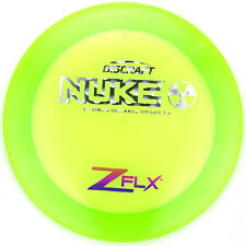 New Green Elite Z Flx Nuke Driver 174g Discraft Disc Golf Cool Holo Foil Stamp