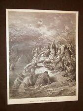 Incisione di Gustave Dorè del 1884 Riccardo Cuor di Leone libera Jaffa Crociata