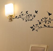 "Tree Branches Wall Decal with Birds Vinyl Sticker Nursery Leaves 40"" W X 18"" H"