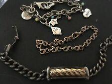 of chain bracelets vintage estate lot