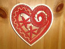 Klöppeln Klöppelbrief Fensterbild rustikales Herz auf Wunsch inkl. Rahmen