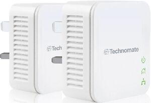 Power line Adapter Starter HomePlug AV Kit TM-600 HP 600Mbps High Speed HD TV