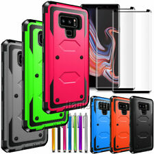 For Samsung Galaxy Note 9 8 Case Cover with 2x Tempered Glass Screen Protectors