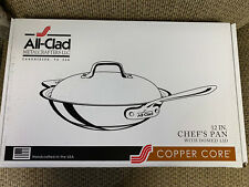Open Box All Clad Stainless Steel Copper Core 12 Inch Chef's Pan W/ Domed Lid