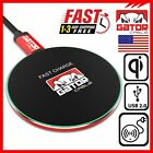 Qi Wireless Phone Charger Fast Charging Pad Dock for Samsung iPhone Universal