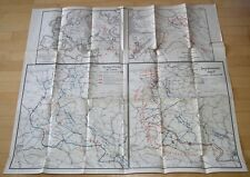 Landkarte 1. WK Operationen 1918 deutsche Angriff ,Türkische Kriegsschauplatz