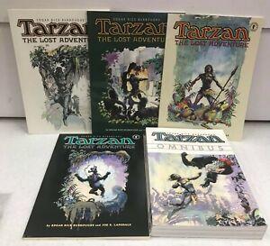 Lot of 5 Tarzan The Lost Adventure Books 1,2,3,4 Plus Omnibus NM Great Set