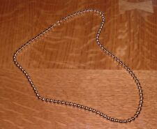 """Vintage Gold Tone Ball Necklace     22"""" Long"""