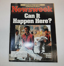 Newsweek Magazine Poison Gas In India December 17, 1984 101916R