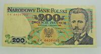 Km# 144c - 200 zlotych 1988 - TTB+ - Billet Pologne - N7887
