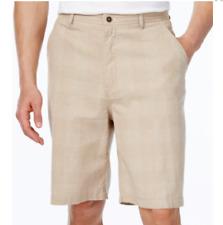 """$80 Geoffrey Beene Men Beige Casual Straight Shorts Pleated Size 33 W 10.5"""""""