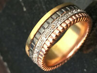 Designer Inspired Real 14K Trigold 0.35ct QUATRE BLACK SMALL RING SIZE 6-9