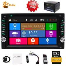 Double 2 Din Car Stereo GPS Navi 6.2 Inch Touchscreen Radio DVD Player+ Free Map