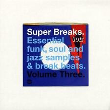 SUPER BREAKS VOLUME 3 NEW & SEALED JAZZ SOUL FUNK BREAK BEATS 2X LP VINYL (BGP)