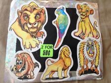 Vintage Vending Display Card Stickers Simba Lions Parrot Warthog Baboon Retro