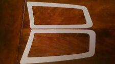 FOCUS RS MK2 STYLE ABS PLASTIC UNDER BONNET VENT TRIM PLATES STARDUST SILVER