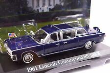 LINCOLN CONTINENTAL SS-100-X 1961 JFK J F KENNEDY 1:43 GREENLIGHT 86110-A