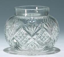 Bleikristall Blumensteckvase / Rosebowl um 1920       #6247