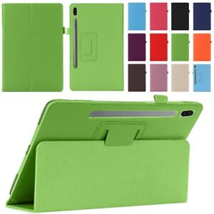 """For Samsung Galaxy Tab S7 S7+ 11"""" 12.4"""" Tablet Case Smart Cover Magnetic Leather"""